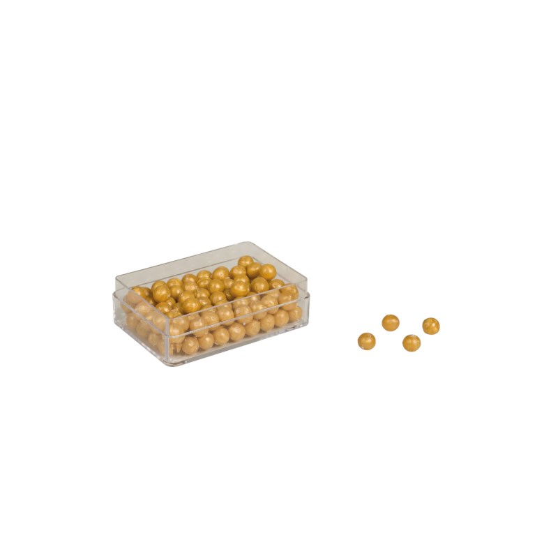 100 Golden Bead Units: Solid Beads Nylon (without hole)
