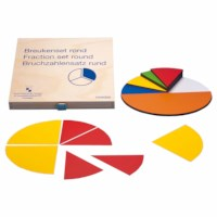 Magnetic fraction set round teacher