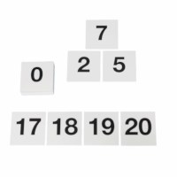 Number cards up to 20