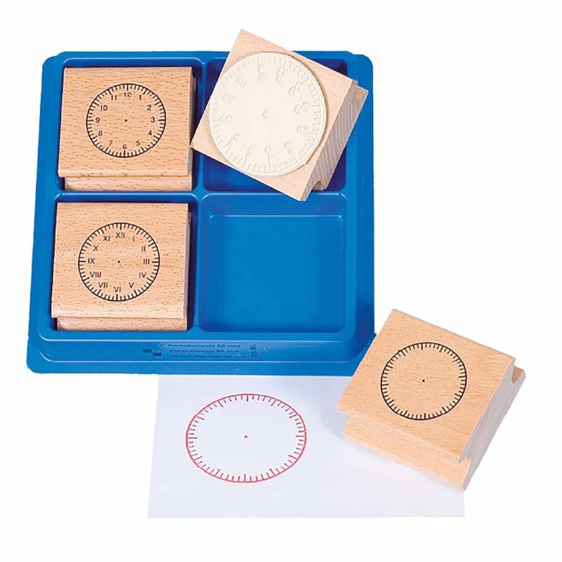 Clock stamps 4 cm