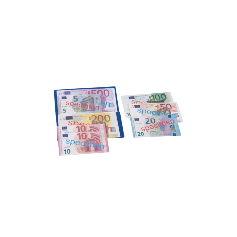 Euro banknotes assortment in folder