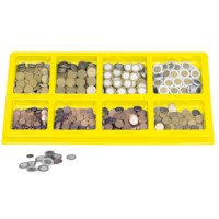 Euro coins sorting tray
