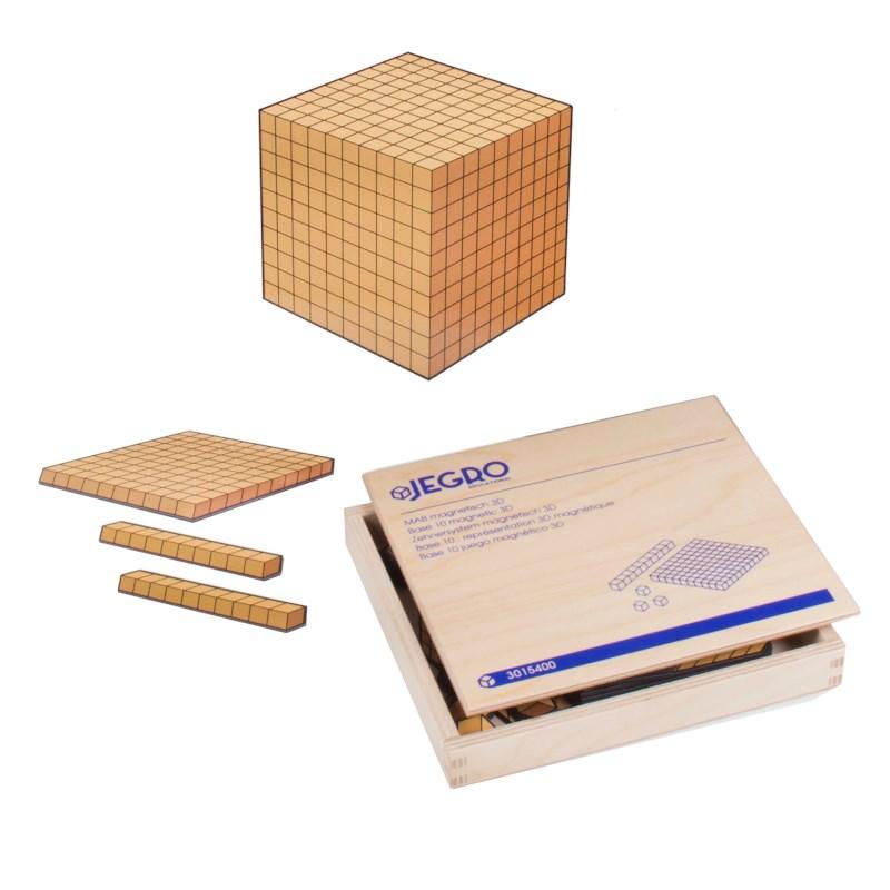 Base 10 magnetic 3-D