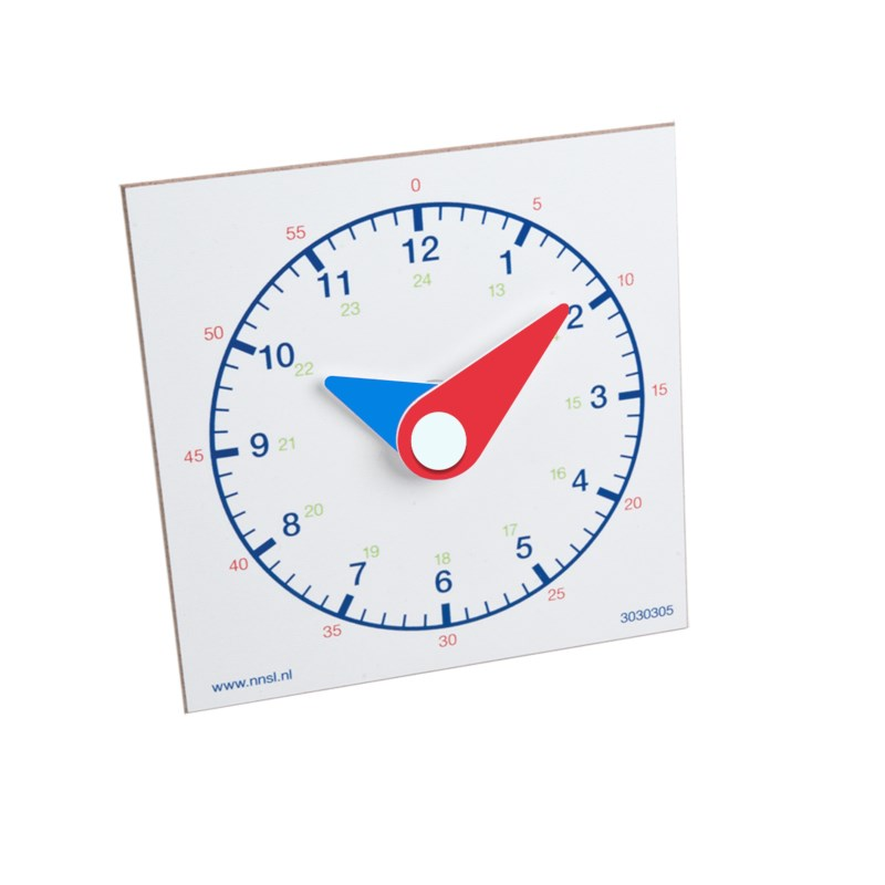 Clock hours and minutes pupils