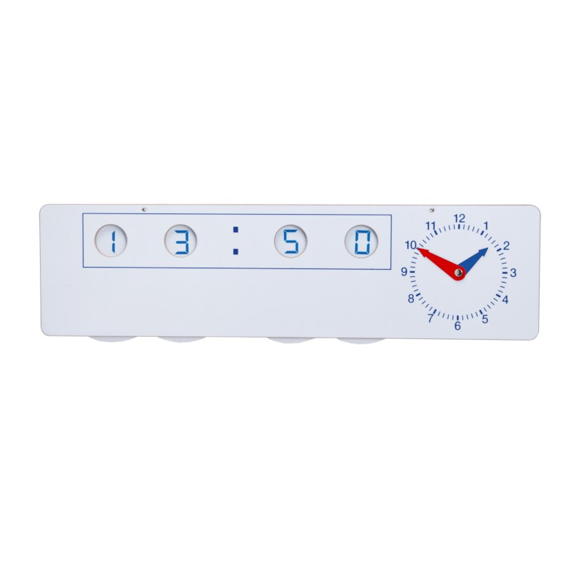 Clock analogue-digital teacher