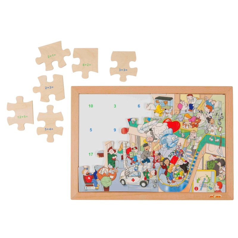 Math puzzle up to 20 - addition