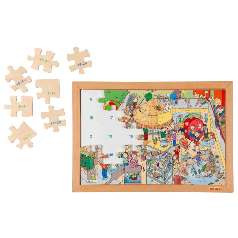 Math puzzle up to 20 - addition and subtraction (set 1)