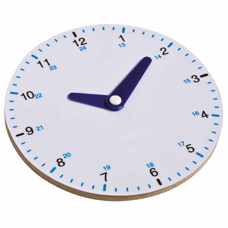 Clock round up to 24 - analogue
